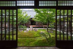 Japanese Landscape Architecture at Kennin-ji, Kyoto #kyoto #japan #garden #landscape #checker #nature #TAKUMIWORKS