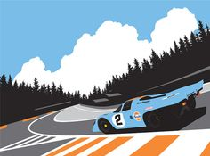 Porsche 917K Eau Rouge print. by GraphicDeluxe on Etsy