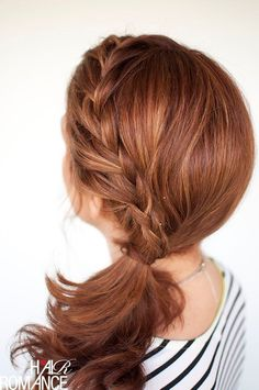 Braided Side Ponytail for Medium Hair - Women Hairstyles 2015
