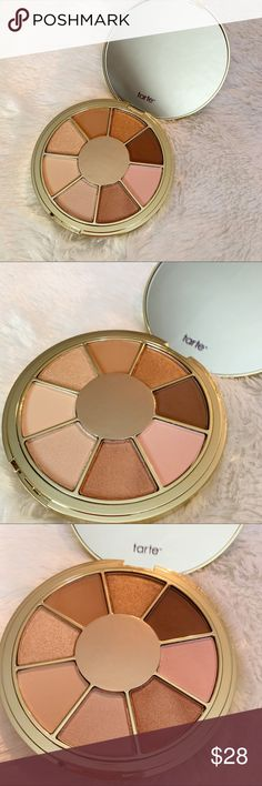 TARTE Be you. eyeshadow palette 4 shimmer shades & 4 matte shades in . Makeup Eyeshadow, Eyeshadow Palette, How To Apply, Shades, Cosmetics, Fingers, Clay, Warm, Beauty