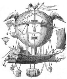 hot air (balloon) ship