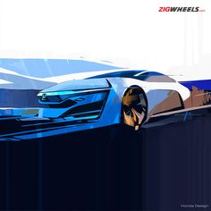 2015 will see some stunning fuel-cell cars from #Honda! Here is a concept sketch that shows the styling direction of these cars. More on it on ZigWheels.com