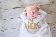 Items similar to I'm Here! Newborn One Piece - Custom Bodysuit - Coming Home Outfit - I'm Here Bodysuit - Baby Bodysuit - Baby Shower Gift - Newborn Photo Ou on Etsy Newborn Onesies, Coming Home Outfit, New Kids, Newborn Photos, Baby Bodysuit, Baby Pictures, Baby Boy Outfits, Just In Case, Baby Shower Gifts