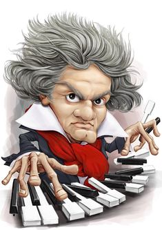 Beethoven FOLLOW THIS BOARD FOR GREAT CARICATURES OR ANY OF OUR OTHER CARICATURE BOARDS. WE HAVE A FEW SEPERATED BY THINGS LIKE ACTORS, MUSICIANS, POLITICS. SPORTS AND MORE...CHECK 'EM OUT!! Anthony Contorno Sr