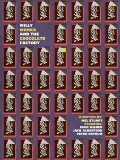 minimalmovieposters:    Willy Wonka and the Chocolate Factory by Andrew Tucker    Thanks for posting me again, Minimal Movie Posters!
