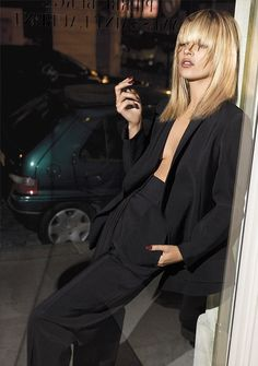 Kate Moss, another perfect image for my 'customer'  Kate in YSL Le Smoking jacket