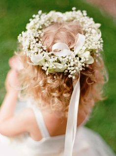 Child's flower crown wedding