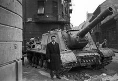 Abandoned during the Hungarian Revolution of 1956 Military Guns, Military Vehicles, Isu 152, Horror Fiction, Ww2 Tanks, British Soldier, Cold War, World War Ii, Hungary