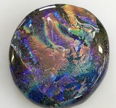 Hand Crafted Dichroic Art Glass Focal Piece Cabochon 30mm | eBay