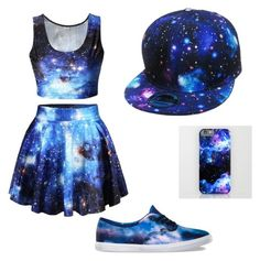 Galaxy Girl by jpag on Polyvore featuring polyvore, fashion, style and Vans