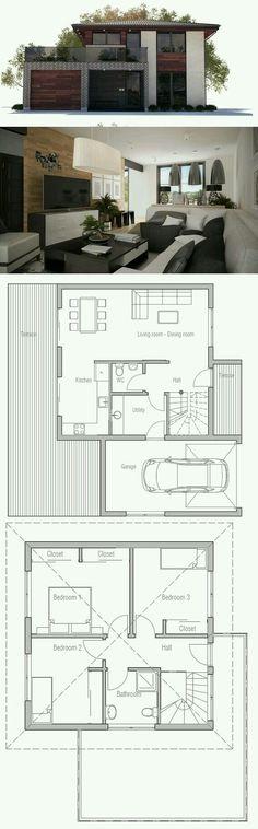 Modèle maison usinée 806 (étage) Nos modèles (vue en plan) Pinterest