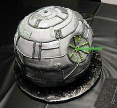 """Death Star"" cake by Bret Ashlee Watson. Lucky kid!!"