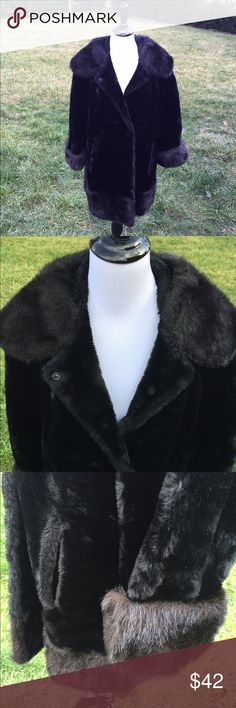 Vintage Faux Fur Coat Beautiful vintage faux fur coat. Very good condition! No size tag but I think it would fit a large best, or a 12. Vintage Jackets & Coats
