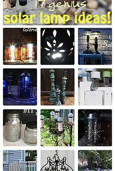 17 genius solar light ideas, lighting, outdoor living, repurposing upcycling