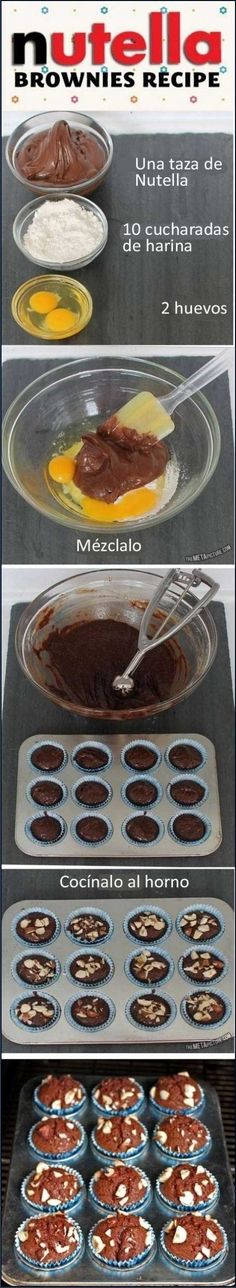 Brownies con tres ingredientes