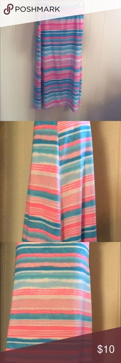 Long colorful maxi skirt Rarely worn, great condition, very comfortable. Cute to wear in spring. Amy Byer Shirts & Tops