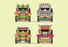 Philippine Jeep Icon or Jeepney Front View Vector. Choose from thousands of free vectors clip art designs icons and illustrations created by artists worldwide! Philippines Tattoo, Philippines Tourism, Art Bulletin Boards, Filipino Art, Philippine Art, Jeepney, Travel Icon, Art Icon, Retro Futurism