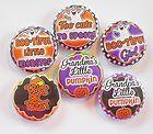 Grandpa Grandma Halloween Flatback Pin Back Buttons 1 for Bows Magnets - Halloween Flatback Pins Embellishments, Magnets, Pumpkin, Bows, Scrapbook, Buttons, Candy, Halloween, Sweet