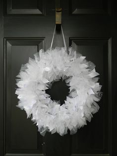 White Wedding Wreath with sparkly tulle and beading. Perfect Wedding and Shower decor. Bridal Shower Decorations, Wedding Centerpieces, Wedding Decorations, Wedding Backdrops, Wedding Wreaths, Tulle Wedding, Wedding White, Wedding Dresses, Bridesmaid Luncheon