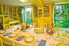Sala de jantar amarela do Monet, em Giverny.     Monet's dining room, at Giverny.