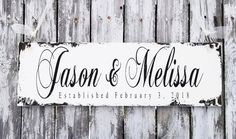 Our VINTAGE INSPIRED Shabby Chic Vintage Custom Name Signs make the BEST HOME DECOR. Whether your purchasing something special for yourself or a gift for someone special, our CUSTOM NAME SIGNS are just simply perfect for any occasion. Let's Create! Shabby Chic Signs, Engagement Signs, Rustic Wedding Signs, Rule Of Thumb, Established Sign, What Is Advertising, Font Names, Family Name Signs, Let's Create
