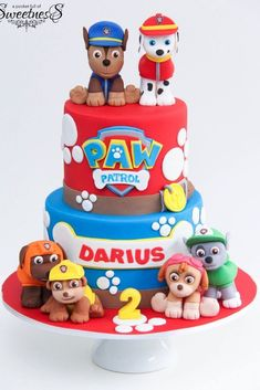 Awesome Picture of Paw Patrol Birthday Cake . Paw Patrol Birthday Cake Happy Birthday To Darius A Pocket Full Of Sweetness Paw Patrol Birthday Cake, 2 Birthday Cake, Happy 2nd Birthday, Birthday Ideas, Bolo Do Paw Patrol, Paw Patrol Torte, Paw Patrol Chase Cake, Happy Birthday Cake Pictures, Cakes For Boys