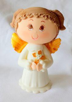 First communion cake topper. Girl first por ForeverSweetfavors, $45.00