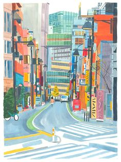 Gracehelmer-magmaprintjapanesestreet-illustration | itsnicethat