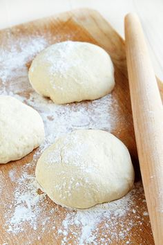 """Olive Oil No Knead Pizza Dough recipe - """"This olive oil dough recipe is ridiculously easy to make. So easy, I questioned if I had skipped a step! It is rich, full of flavor and perfect for pizza dough and focaccia. It also makes a lot of dough, but the beauty is that you can store the leftover dough in the fridge for up to 12 days and use it as the urge strikes."""""""