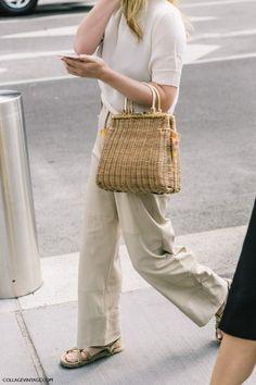Love this polished woven bag