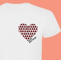 """#Camiseta #Gay """"Heart Salvaje"""" de la Colección """"Corazones y Plumas"""" 100% algodón. http://www.togayther.es/producto/camiseta-gay-heart-salvaje/"""