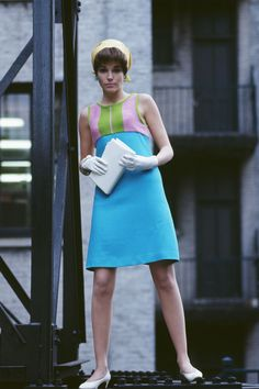 Color block mini dress, 1960s