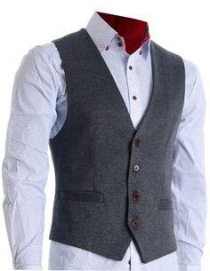 FLATSEVEN Mens Designer Stylish Casual Vest Premium Grey, L (Chest 42) FLATSEVEN http://www.amazon.com/dp/B00C3ZTZGU/ref=cm_sw_r_pi_dp_idGpub092JQF4