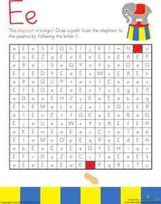 Letter Maze: E