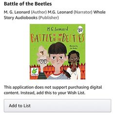 The Battle of the Beetles audiobook just appeared on Amazon, for all you Audible subscribers (I'm one) 😃💚❤️💚🐞 #middlegrade #childrensbooks #mgleonard #battleofthebeetles #audiobooks #beetles #ecofiction #bookstagram #authorlife