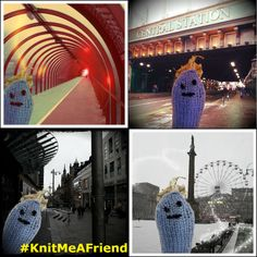 Friendly #microbe out 'n' about Glasgow over last few days taking #selfies #KnitMeAFriend  http://www.glasgowcityofscience.com/get-involved/knitting-microbes