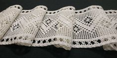 Vintage handmade crochet gauze table runner, Off white, / inches Kitchen Window Valances, Crochet Doilies, Table Centerpieces, Table Runners, Overlays, Off White, I Shop, Handmade Items, Colours