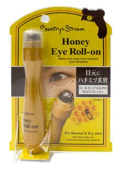 Country & Stream Honey Eye Roll-on includes honey royal extract, pomegranate extract, hamamelis extract, and hyaluronic acid. It reduces fine wrinkles around the eyes and energizes the skin. The roller is made of stainless steel, which gives the areas around the eyes a refreshing feel.