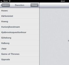 Eller #sswc2013 #sswc trendar! Social Web, Uppsala, Sweden, This Or That Questions