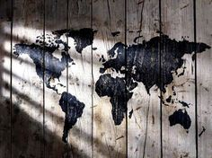World Map Wallpaper For Anyone Who Loves Geography : World Map Wallpaper on Wood