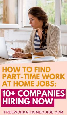 Would you love to work from home part-time? These 10 legitimate remote companies are actively hiring for part-time online jobs. time Best Part-Time Work at Home Jobs: Companies Hiring, Apply Today! Work From Home Companies, Work From Home Tips, Make Money From Home, Companies Hiring, Insurance Companies, Jobs Hiring, Home Based Work, Work For Hire, Virtual Assistant Jobs