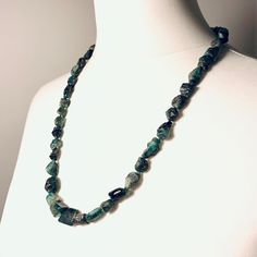 Reflections from a few years ago, long rough Emerald necklace Emerald Necklace, Gemstone Necklace, Beaded Necklace, Necklaces, Gemstones, Natural, Unique, Beautiful, Jewelry
