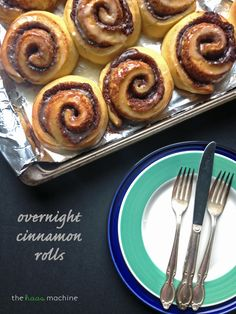 Overnight Cinnamon Rolls // The Haas Machine