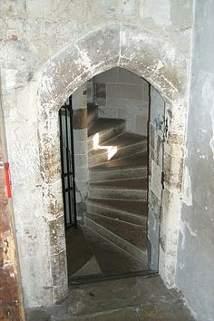 The Tower of London. These steps are steep