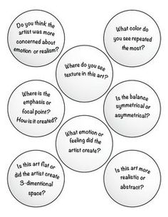 Art Critique with Ping Pong Balls by Expressive Monkey High School Art, Middle School Art, Art Analysis, Art Doodle, Art Rubric, Rubrics, Find Art, Art Critique, Art Handouts