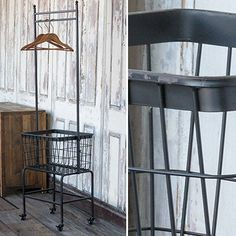 Our vintage clothes rack is a wash & fold rolling rack that is perfect for your laundry room or great to use as a rolling closet. For more ideas on how to use this vintage laundry rack visit, www.decorsteals.com OR www.facebook.com/decorsteals