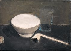 William Scott, Pipe and Bowl, 1952, Oil on canvas, 25.5 × 35.5 cm / 10 × 14 in, Private collection
