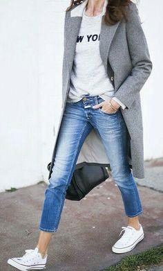 Calça jeans + all star