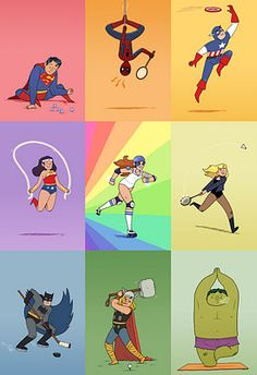 I want to be Rainbow Brite roller derby girl! print by Maris Wicks Roller Derby, I Am Batman, Superman, Cute Piggies, Black Canary, Super Sport, Dc Heroes, Marvel Characters, Comic Artist