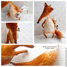 Лисичка с курицей Хвост подвижный